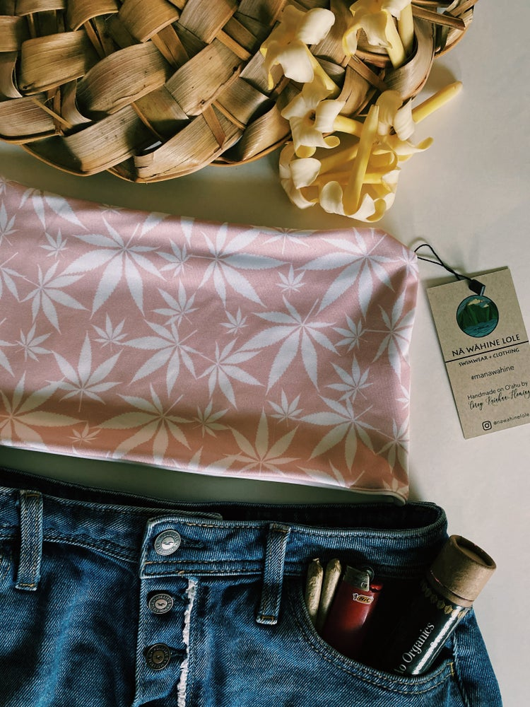 Image of Ready to ship pink and white maryjane bandeau