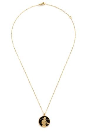 Image of Amano Aquarius Enamel Medallion Necklace