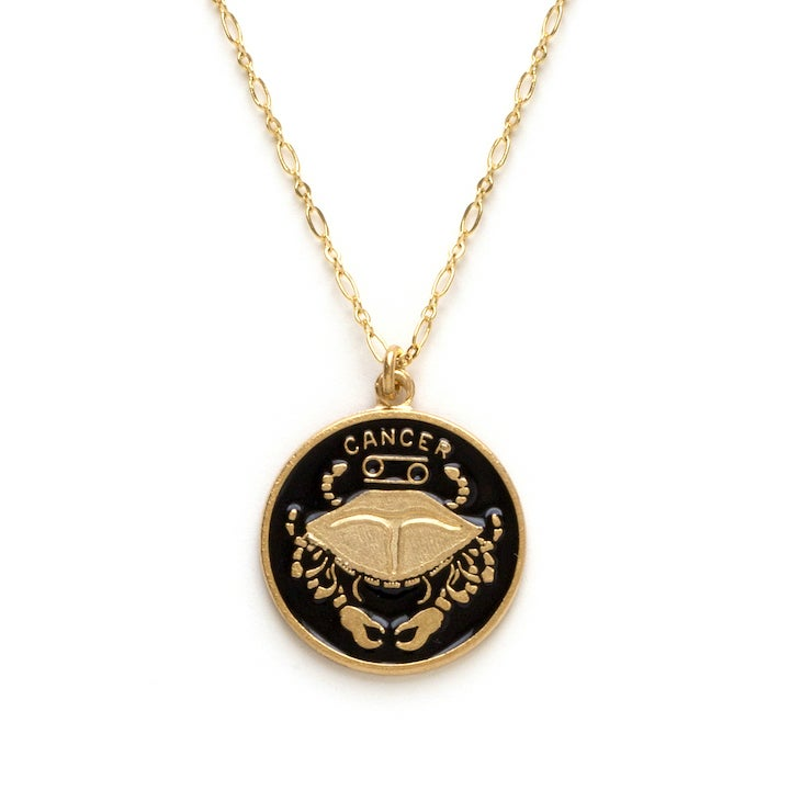 Image of Amano Cancer Enamel Medallion Necklace