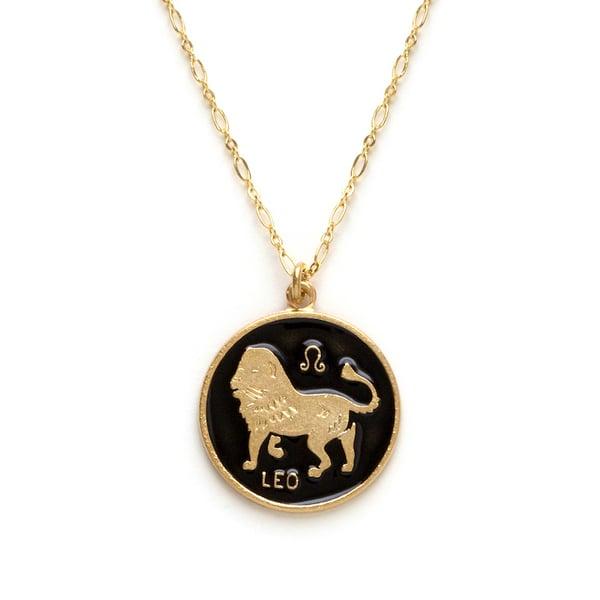 Image of Amano Leo Enamel Medallion Necklace
