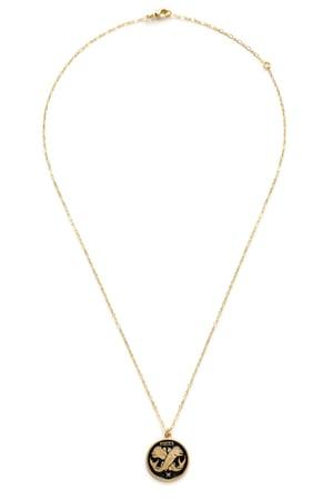 Image of Amano Pisces Enamel Medallion Necklace