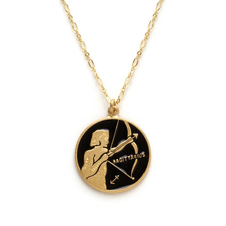 Image of Amano Sagittarius Enamel Medallion Necklace