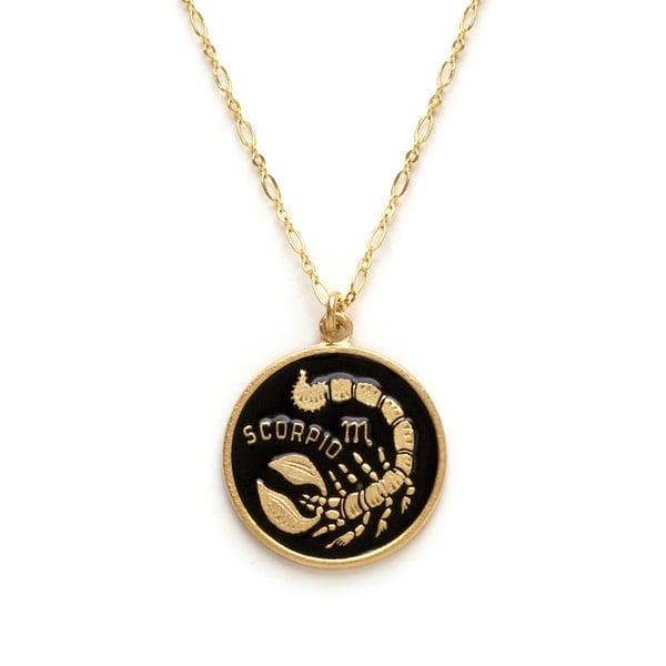 Image of Amano Scorpio Enamel Medallion Necklace