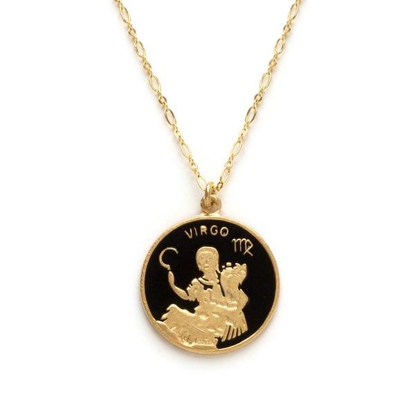 Image of Amano Virgo Enamel Medallion Necklace