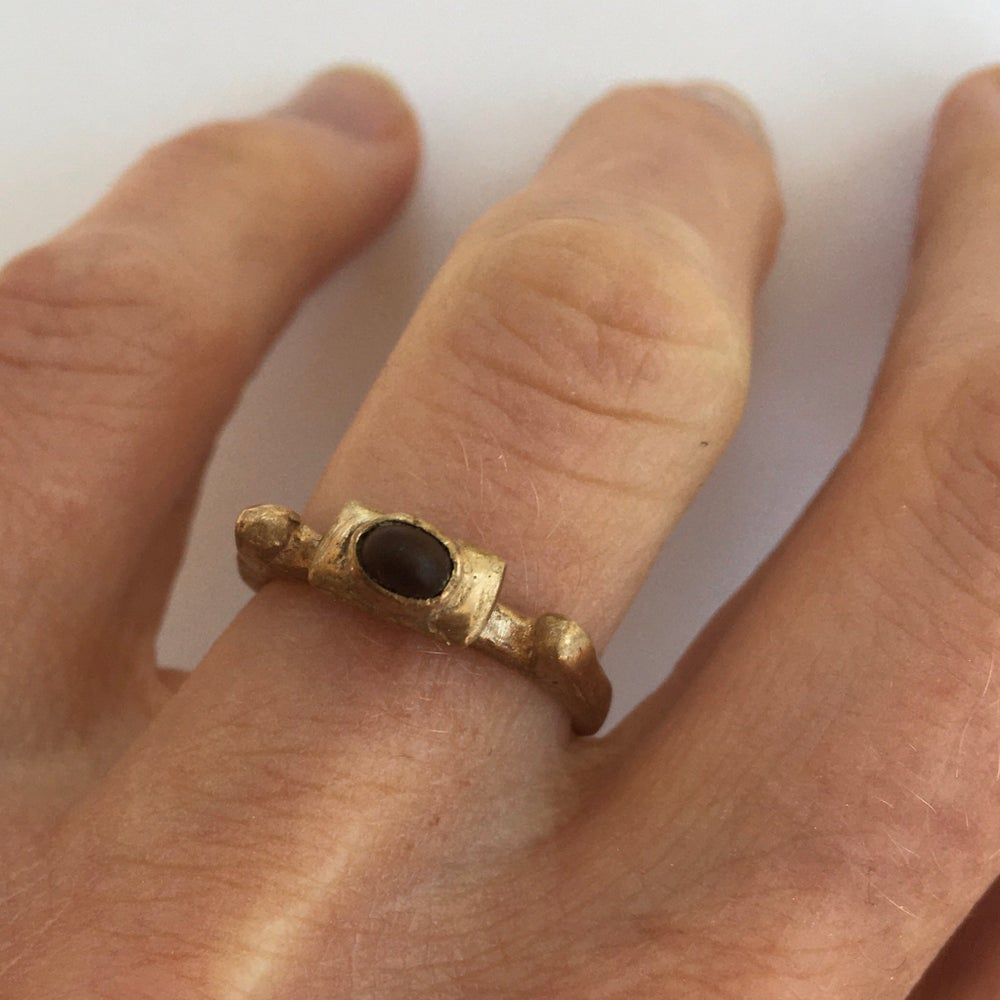 Image of Horned Pebble Ring size L