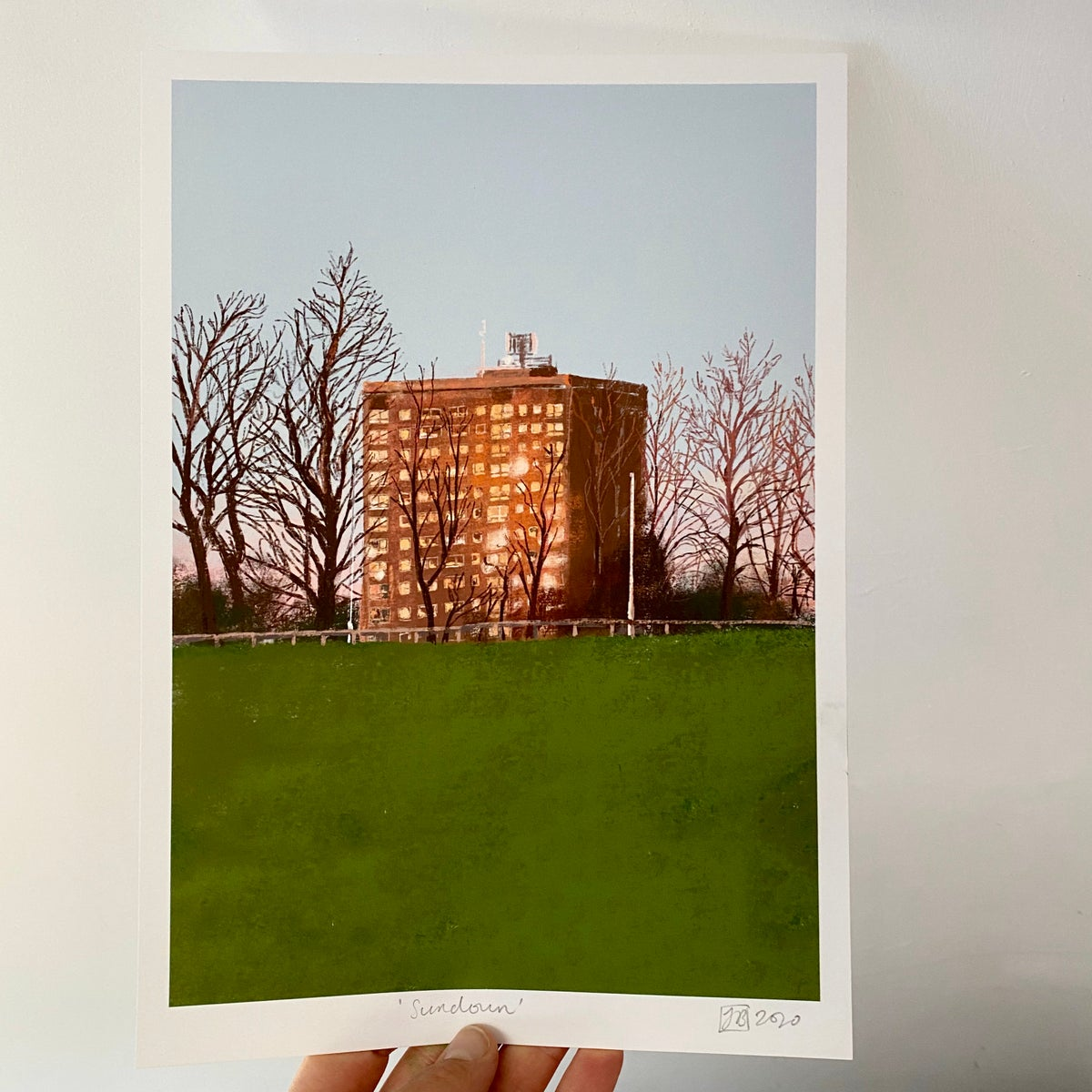 Image of 'Sundown' archive quality print (A4 or A3)