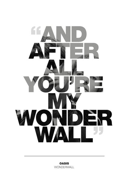 Image of Oasis - Wonderwall Poster