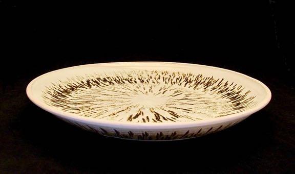 Large etched platter