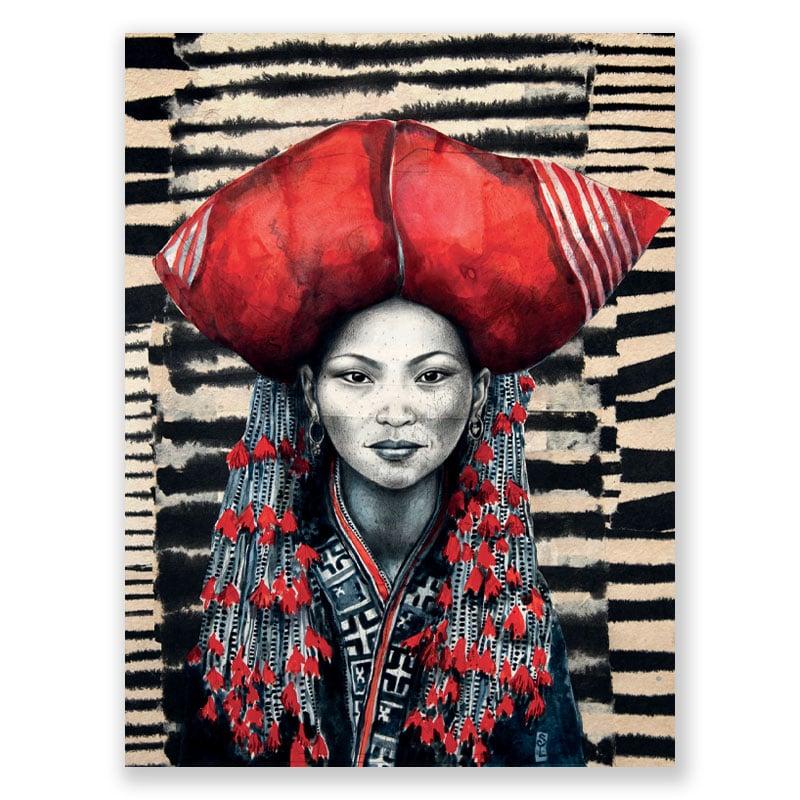 """Image of Paper Art Print - """"Chez les Dzaos rouges"""""""