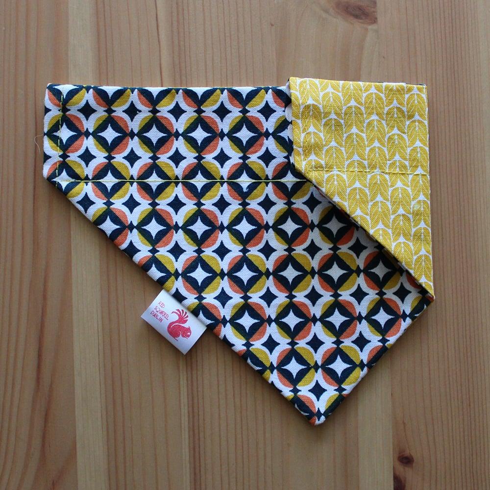 Image of Geometric dog & cat bandana