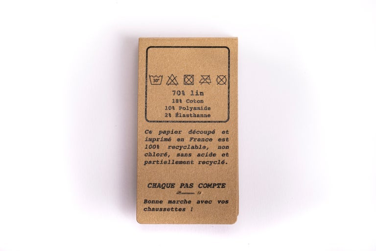 """Image of Chaussettes en lin - Motif """"lignes boooo"""" - Même pas peur - FANTOME"""