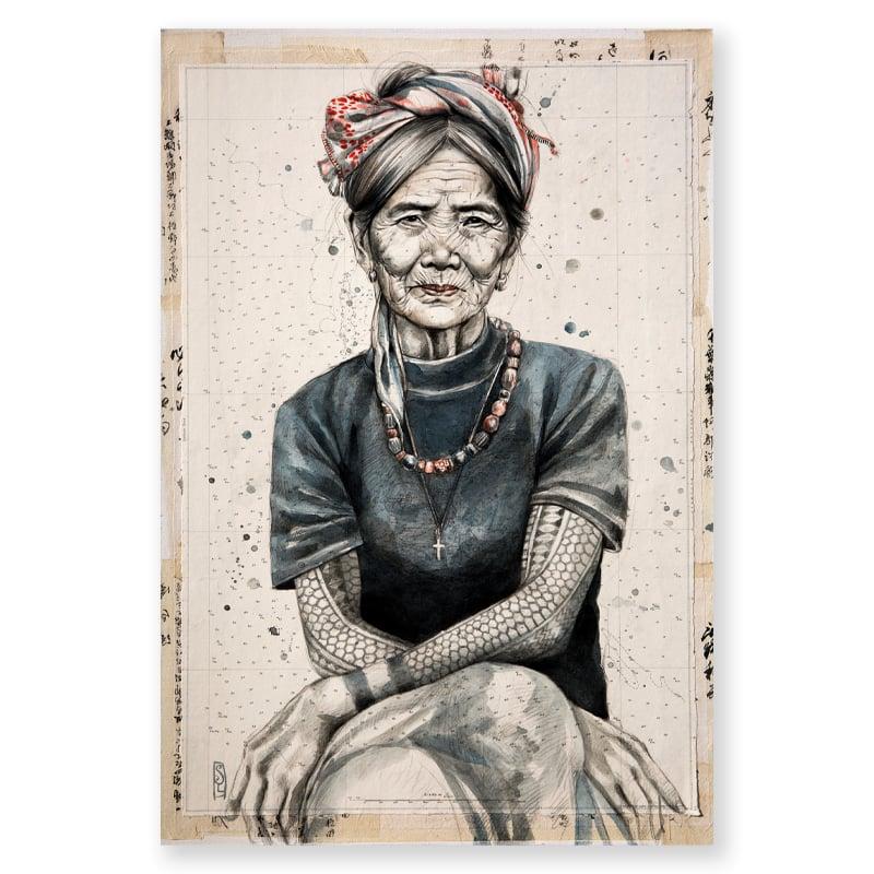 "Image of Paper Art Print - ""Whang Od 2"""
