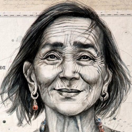 "Image of Paper Art Print - ""Idchong Paclay"""