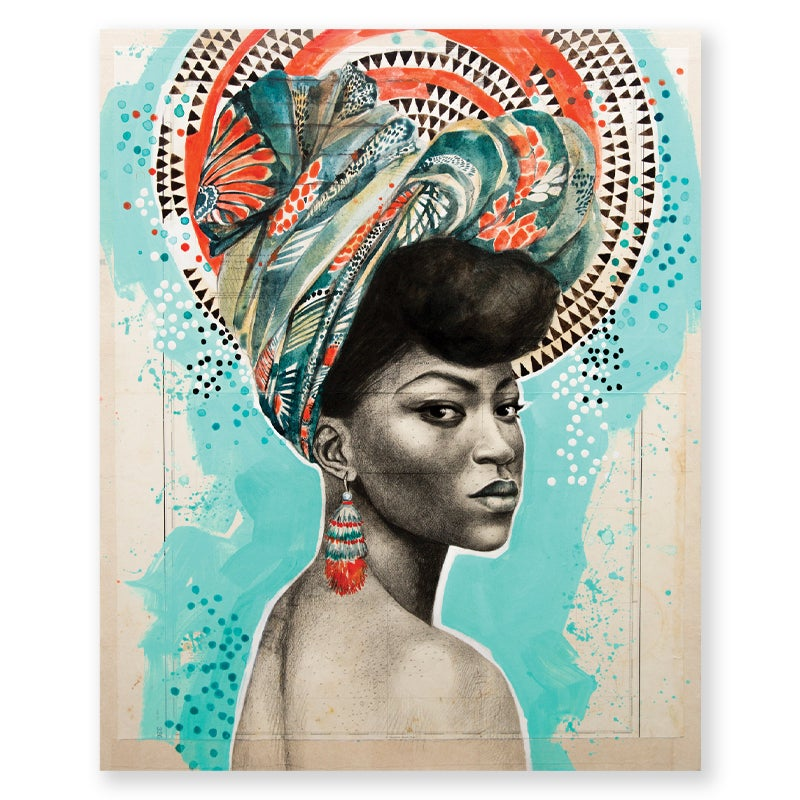 "Image of Paper Art Print - ""Trinidad en couleur"""