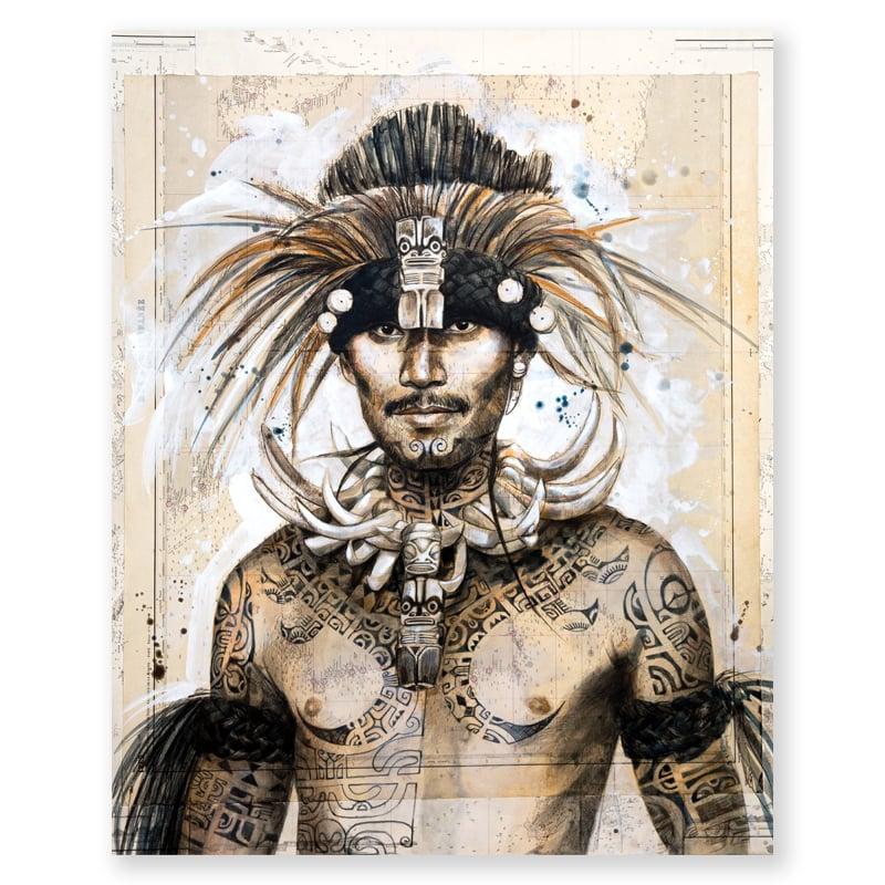 "Image of Paper Art Print - ""Kimi"""