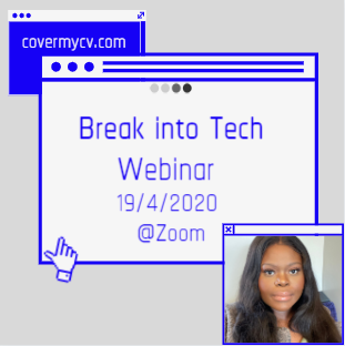 Image of Cover My CV: Break into Tech Webinar