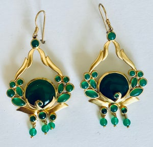Image of Green Onyx earring