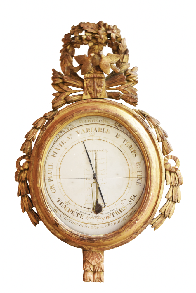 Image of French 18th Century Louis XVI Giltwood Barometer
