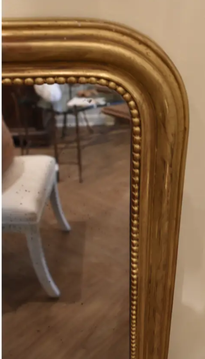 Image of 19th Century French Louis Philippe Giltwood Mirror