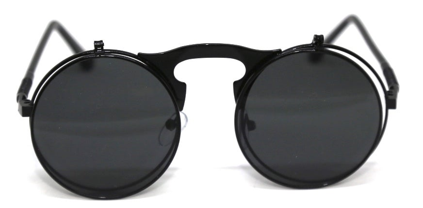 Image of Fallout Round Flip Sunnies Black