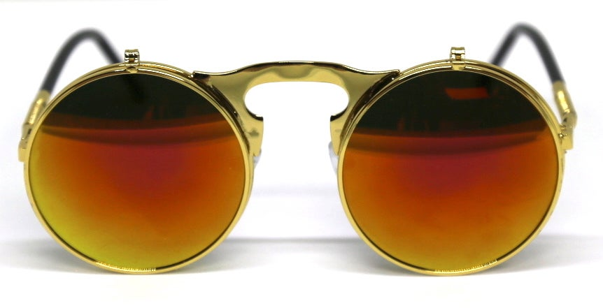 Image of Fallout Round Flip Sunnies Orange Reflect
