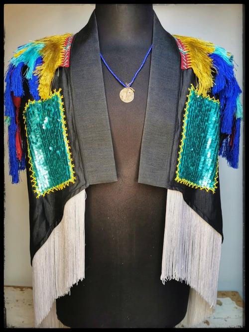 Image of Cosmic Turquoise Kimono