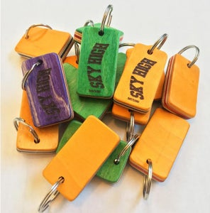 Image of Sky High Recycled Deck Keychain