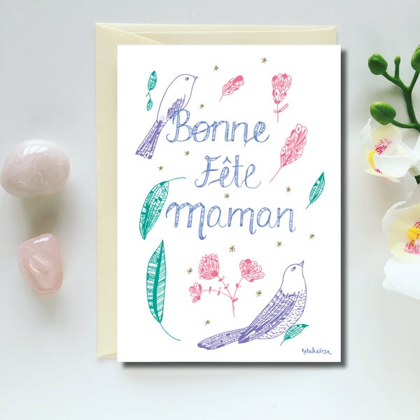 Image of Greeting Card *Bonne Fête Maman*