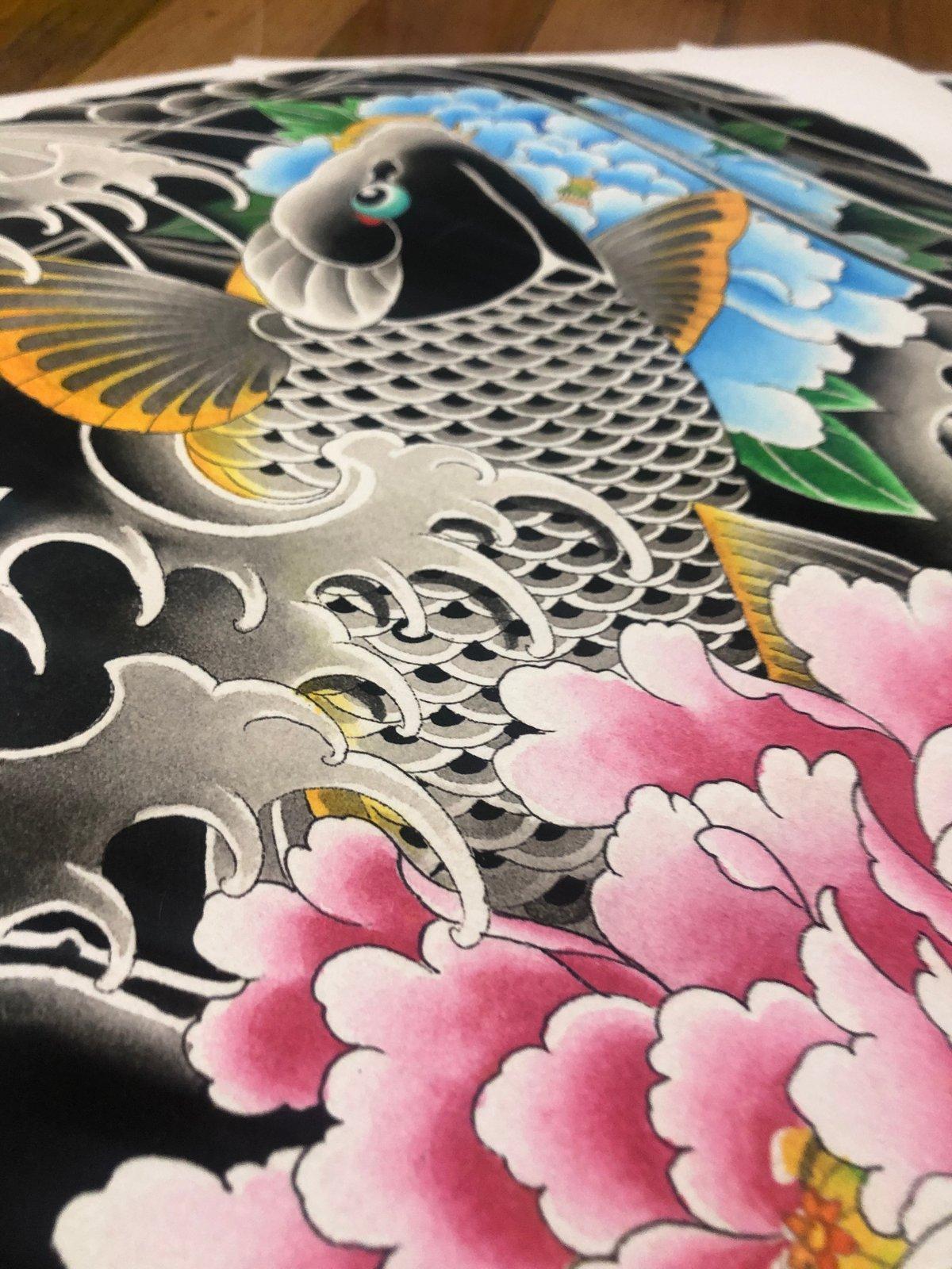 12x16 Koi Half Sleeve Print