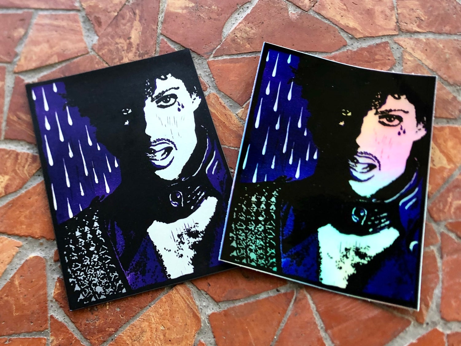 Image of Prince magnet + sticker combo