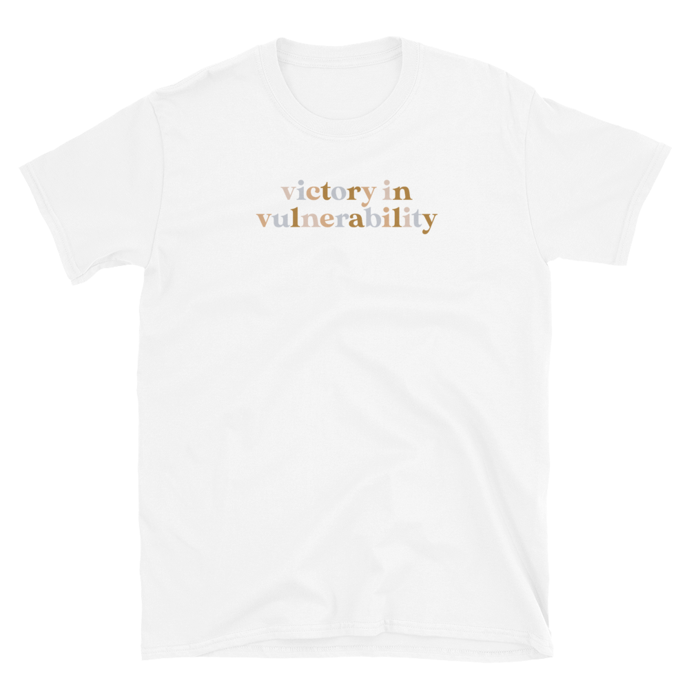 Image of Colorful Victory in Vulnerability Tee