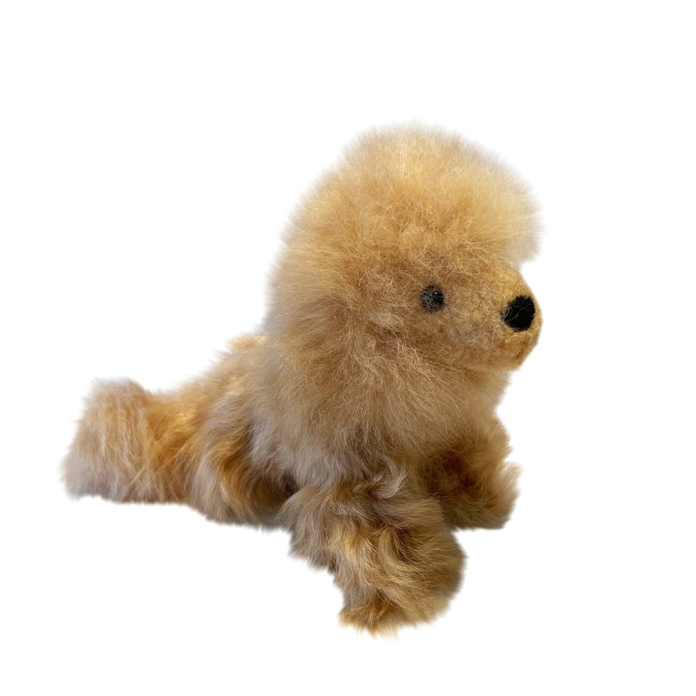 Image of Small STUFFED ALPACA Lion