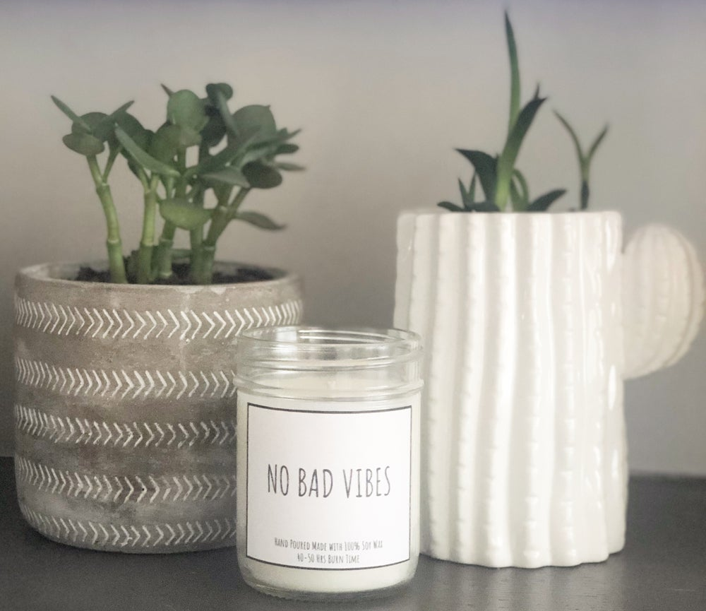 Image of NO BAD VIBES LAVENDER CANDLE