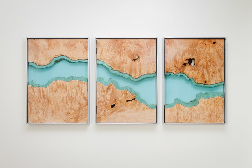 Image of river divided wall-hanging