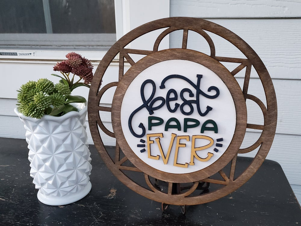 Image of Interchangeable Mosaic Frame Sign with Stand - Craft at Home Kit