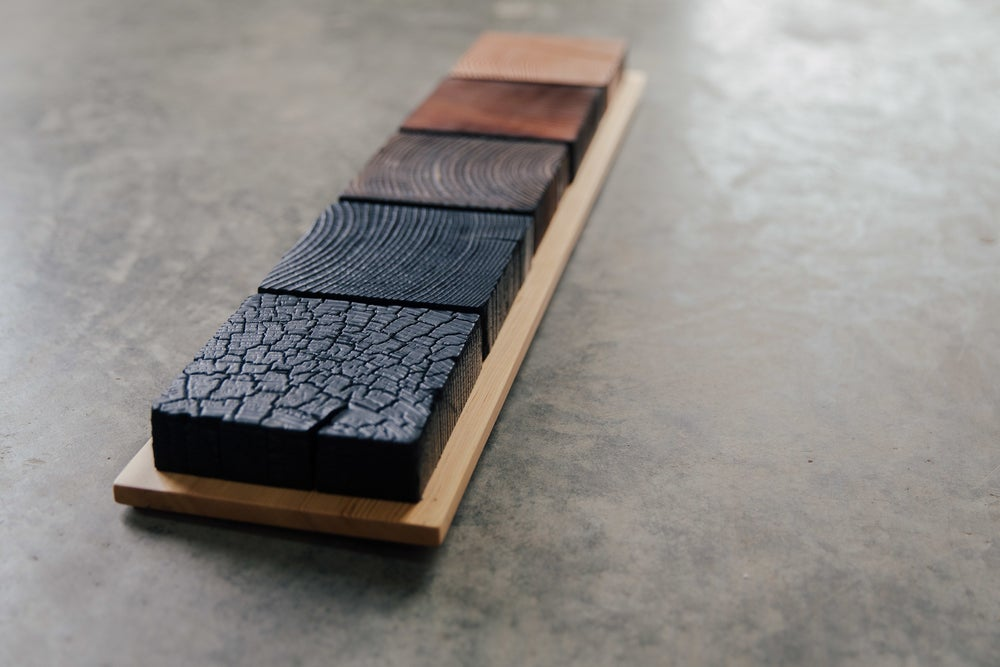 Image of shou sugi ban progression no.1