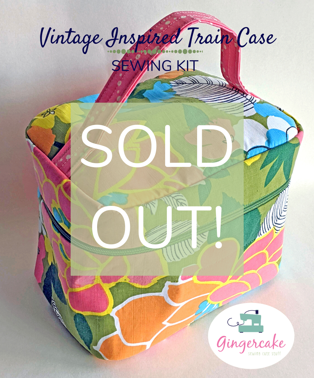 Image of SOLD OUT! Vintage Inspired Train Case Sewing Kit