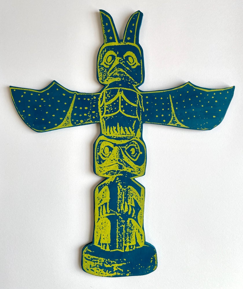 Image of Thunderbird Totem Deep Blue