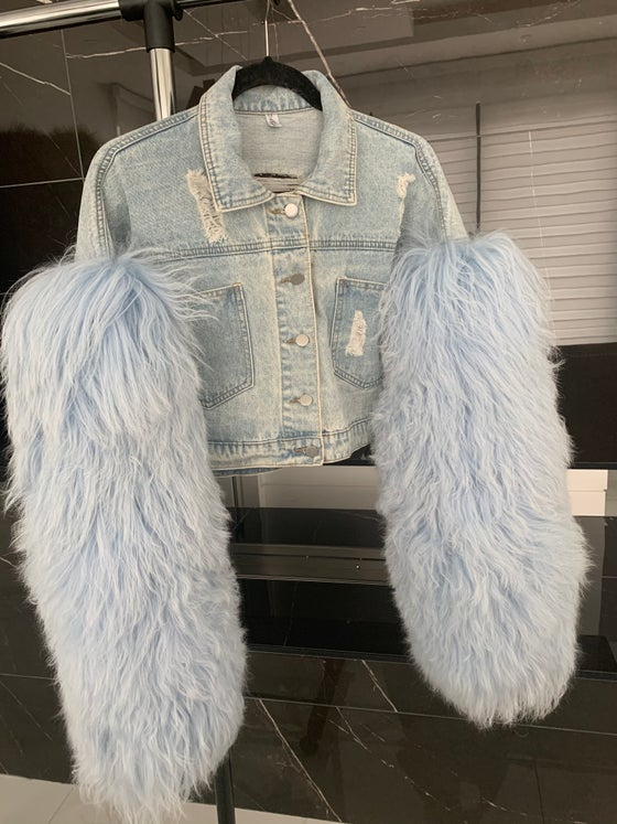 Image of Fur X Denim Jacket
