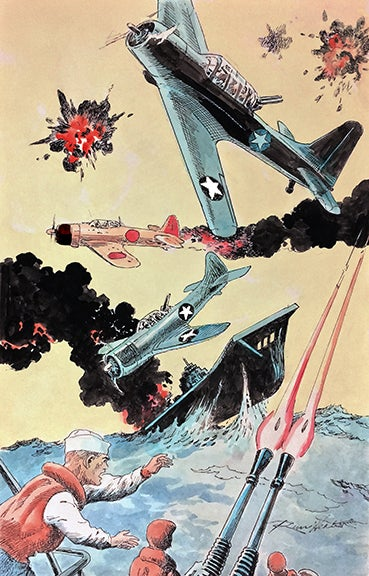 Image of MIDWAY: FROM THE PAGES OF COMBAT (Russ Heath variant cover)