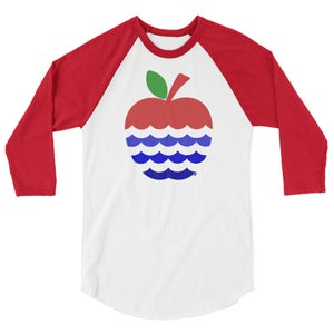 Image of Apples + 3 Rivers = Fort Wayne 3/4 sleeve tee