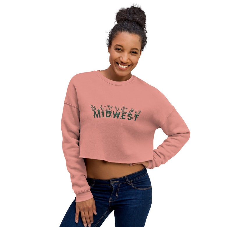Image of Midwest Floral Crop Sweatshirt