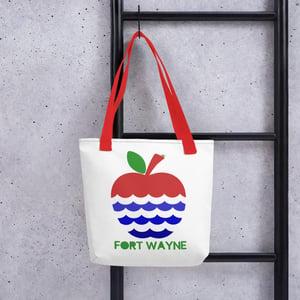 Image of Apples + Rivers = Fort Wayne Tote bag