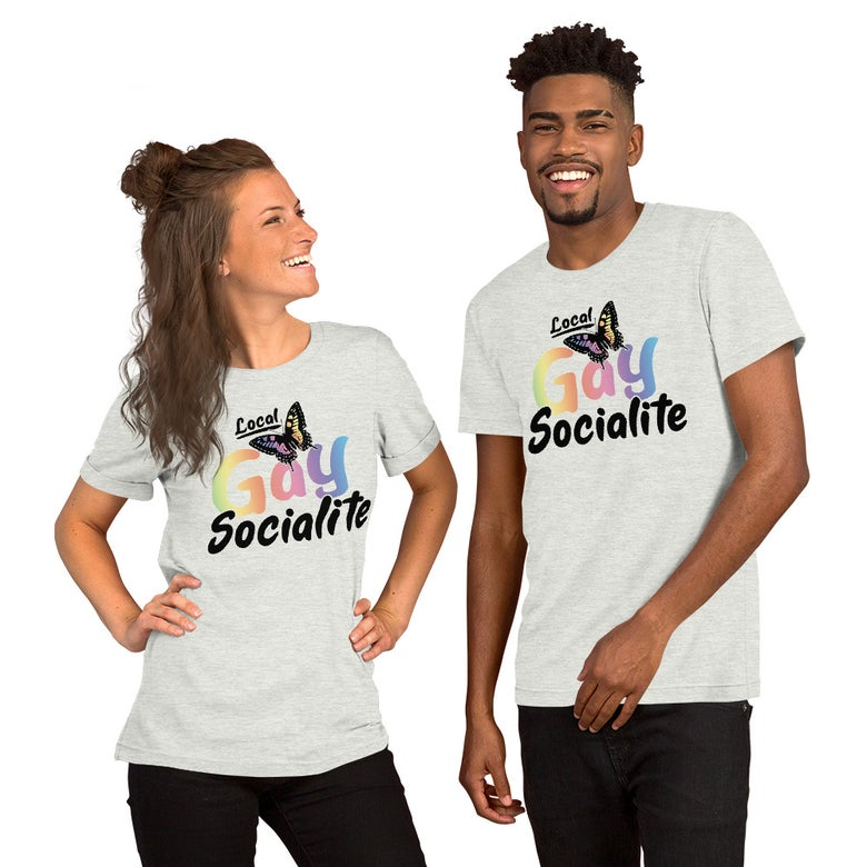 Image of Local Gay Social Butterfly Unisex T-Shirt