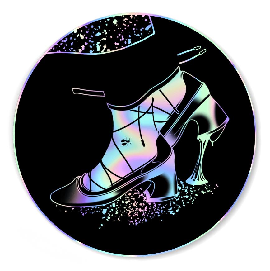 Image of Shoe Fly - Hologrpahic Sticker