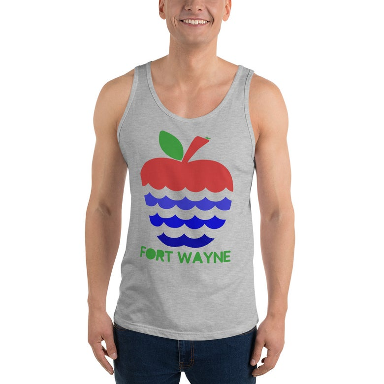 Image of Apples + Rivers = Fort Wayne Uni-sex Tank Top