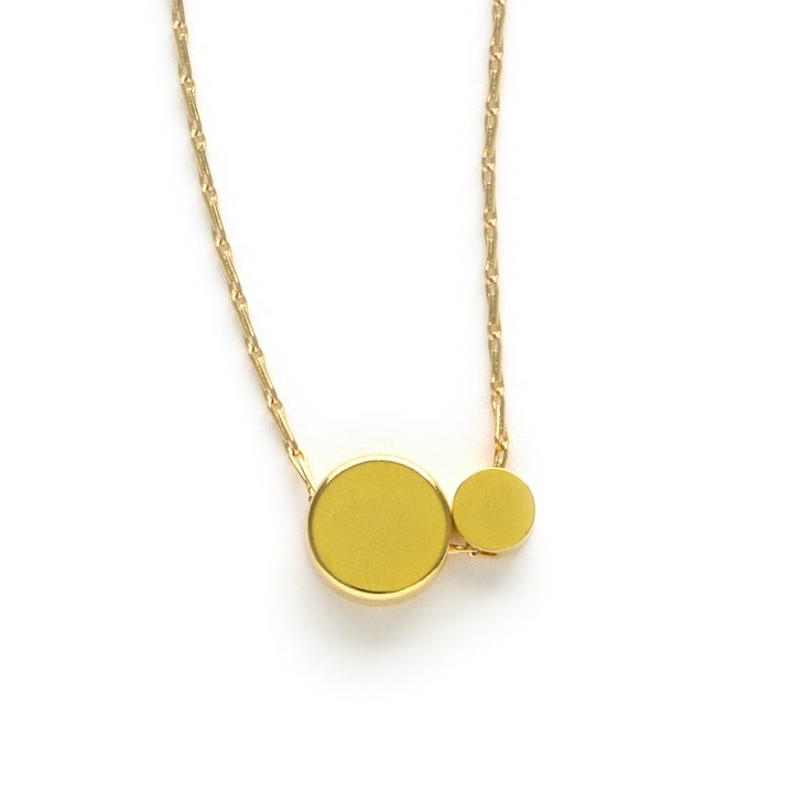 Image of Amano Gold Double Dot Necklace
