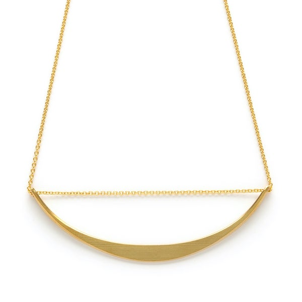 Image of Amano Gold Threaded Crescent Necklace