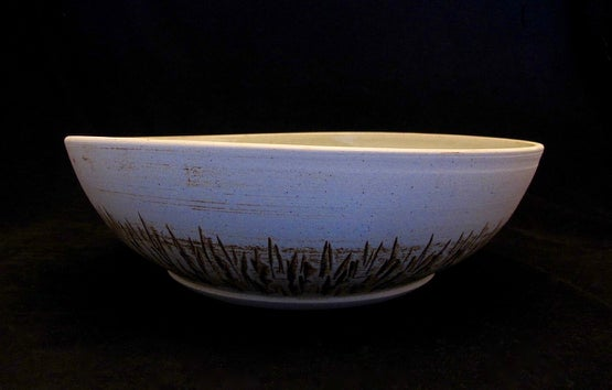 Green etched interior bowl