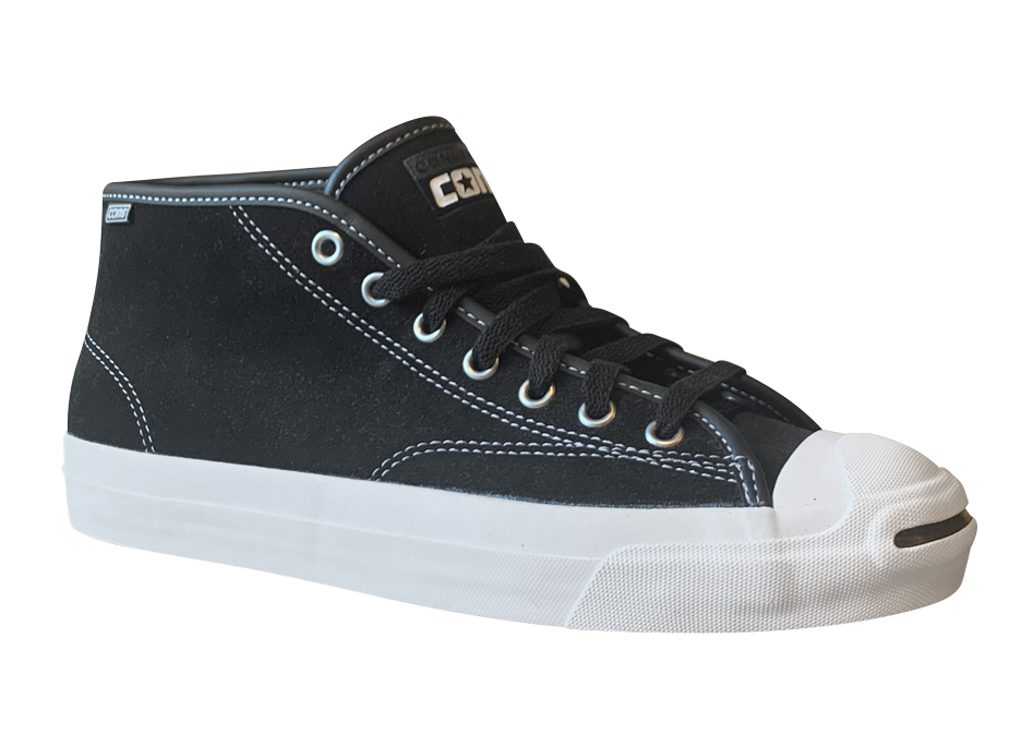 Image of Converse CONS Jack Purcell Pro Mid - Black / White Suede